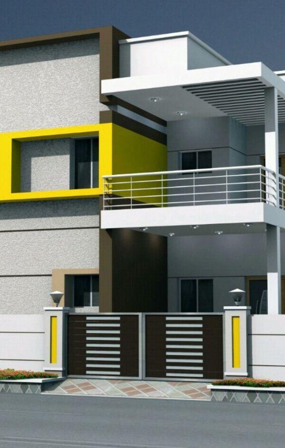 Colores para pintar fachadas de casas tendencias 2019 - Colores de fachadas modernas ...