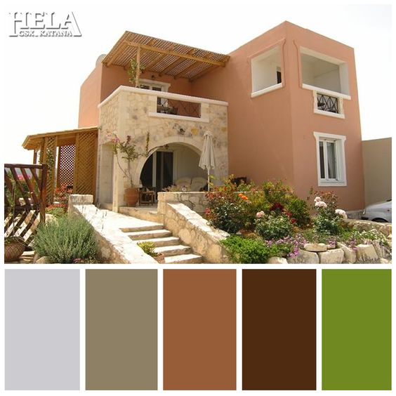 Colores para pintar fachadas de casas tendencias 2018 for Colores para pintar fachadas
