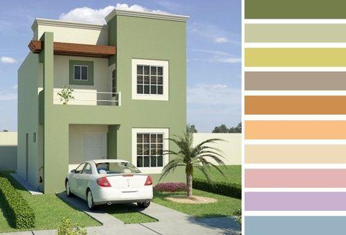 combinaciones de colores para exteriores de casas