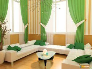 Cortinas modernas verdes2