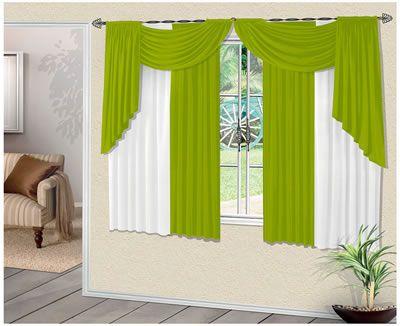 Cortinas modernas verdes3 - Cortinas para habitaciones pequenas ...