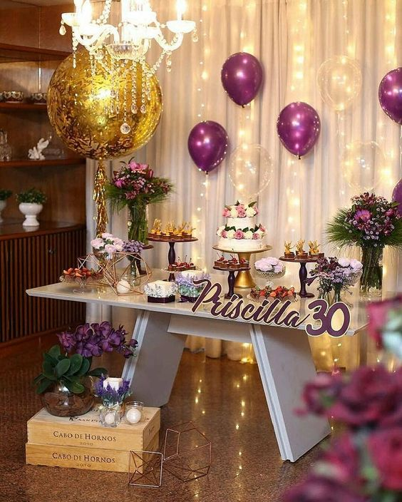 e6d91e21eec Decoracion de cumpleaños para mujer | Eventos 2019