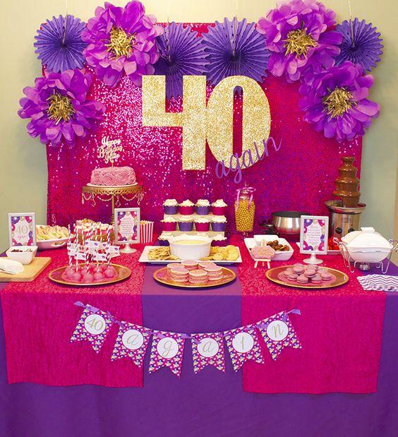 decoracion para cumplea os de mujer de 40 a