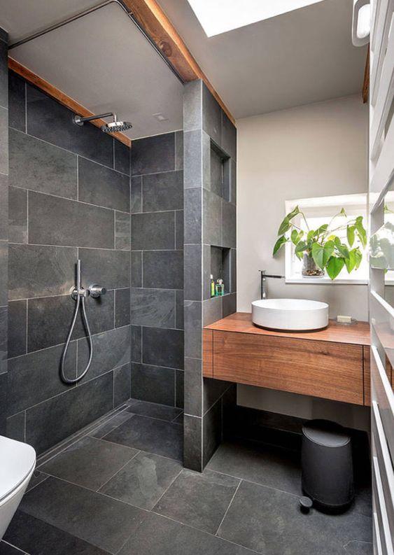 Diseños de walk-in shower para baños pequeños