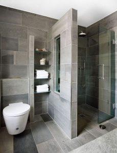 Diseños de walk-in shower para baños pequeños7