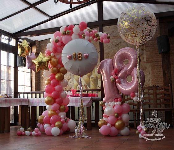 Fiesta de cumplea os numero decoracion de - Decoracion fiesta 18 cumpleanos ...