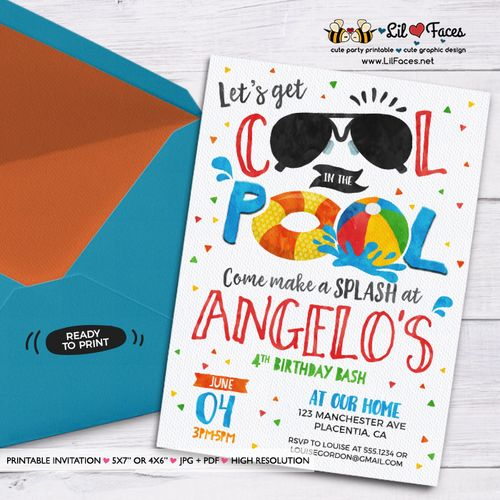 Fiesta En Alberca Para Niños Ideas Para Fiestas 2019