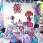 Mesas principales para fiesta de paw patrol para niña