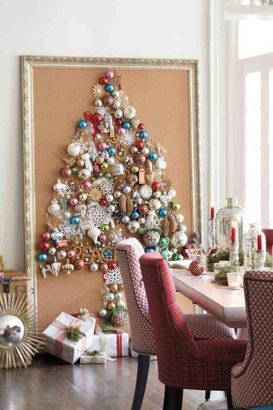 adornos navideños modernos para pared