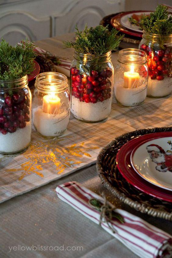 adornos navideños para mesas