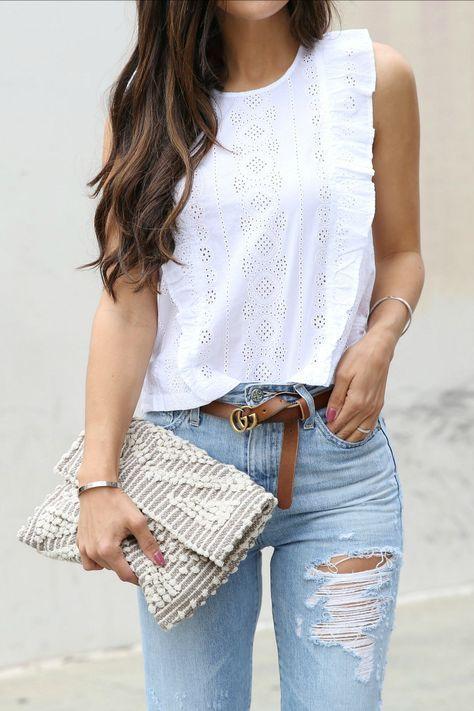 Blusas blancas elegantes para damas