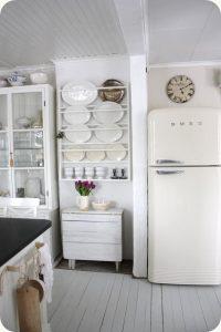 como limpiar un refrigerador en color blanco