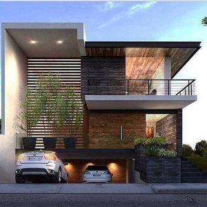 fachadas de casas modernas y lujosas