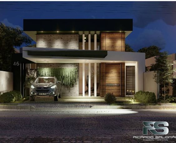 Fotos de fachadas de casas sencillas y bonitas for Fachadas de casas de 2 pisos pequenas
