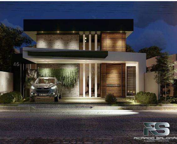Fotos de fachadas de casas sencillas y bonitas for Fachadas de casas modernas de 6 metros