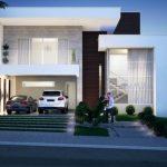 fachadas de casas sencillas de dos pisos