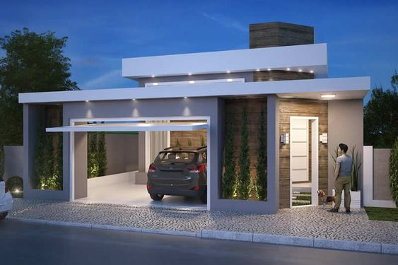 Fachadas de casas sencillas de un piso - Casas de 1 piso bonitas ...