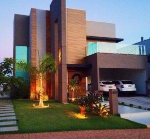 fachadas modernas con jardin