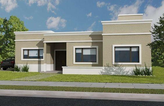 Fachadas modernas todo lo que tienes que saber para - Molduras para ventanas exteriores casas ...