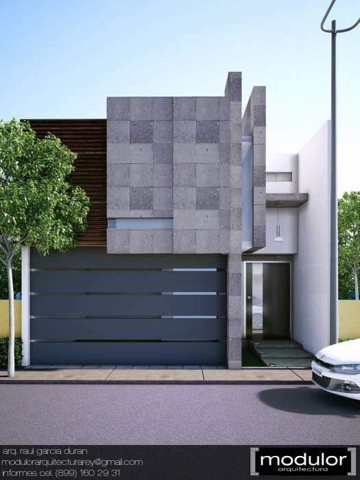 fachadas modernas mexicanas