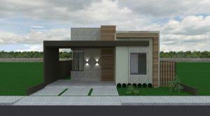 fachadas sencillas con madera