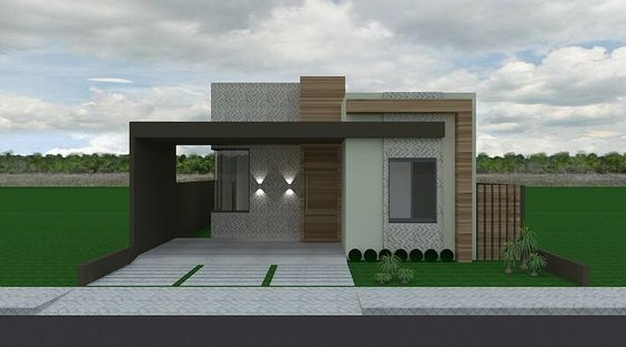 simple facades with wood