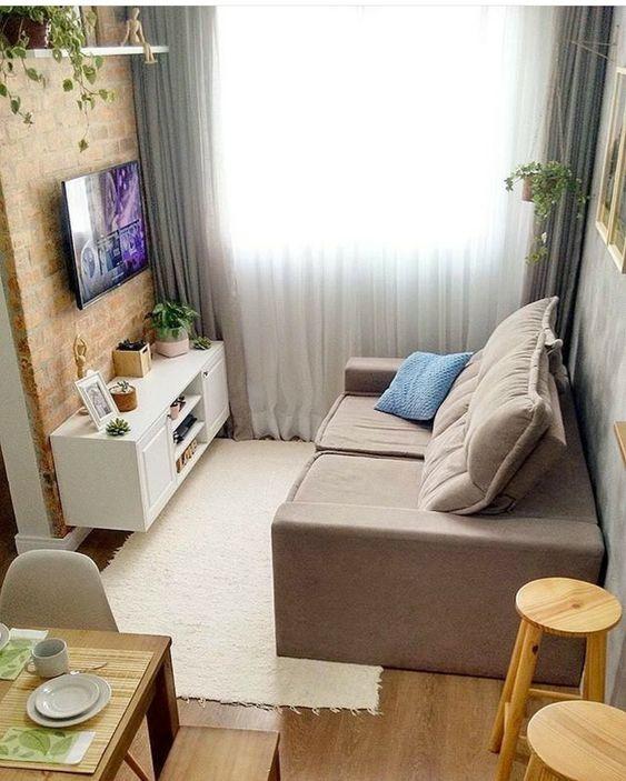 Decoraci n de salas peque as tendencias en decoraci n 2019 for Decoracion de living en departamentos pequenos