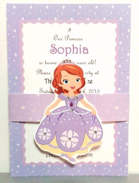 Invitaciones De Princesita Sofia Personalizadas Diseños 2019