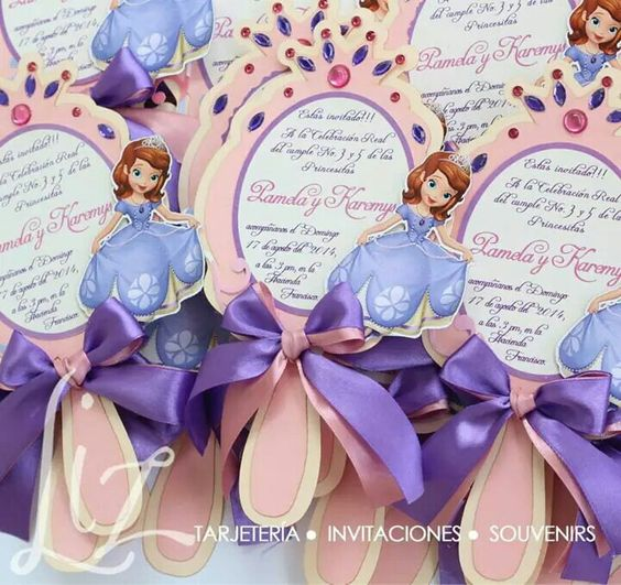 Invitaciones de princesita sofia personalizadas