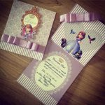 Invitaciones de princesita sofia sencillas