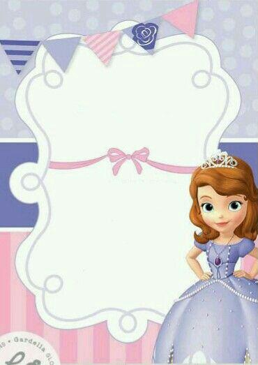Invitaciones princesa sofia para descargar