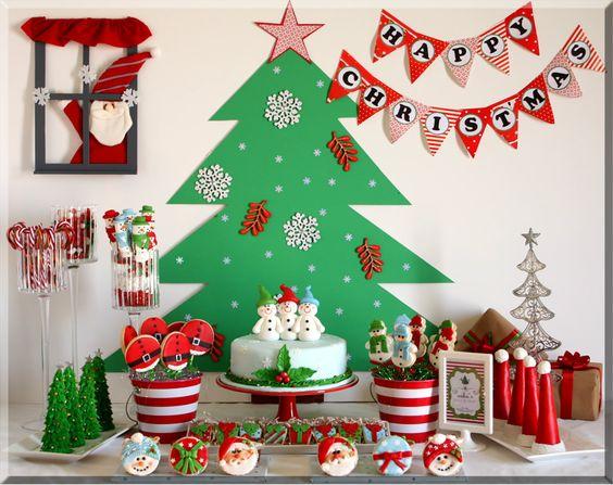 Mesa de dulces sencilla para navidad