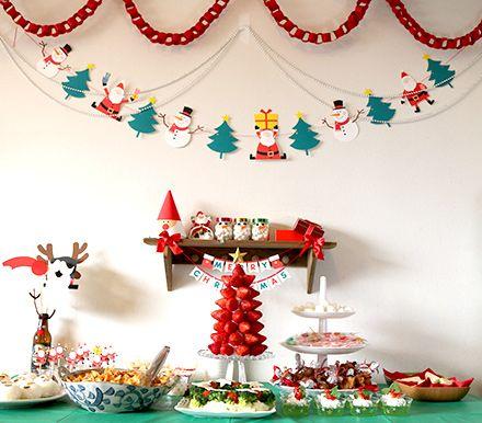 mesa de dulces sencilla de navidad