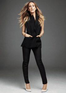 outfit en color negro para verme delgada y alta