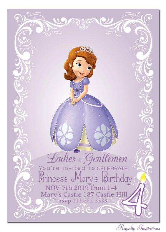 Tarjetas de cumpleaños de princesa sofia gratis