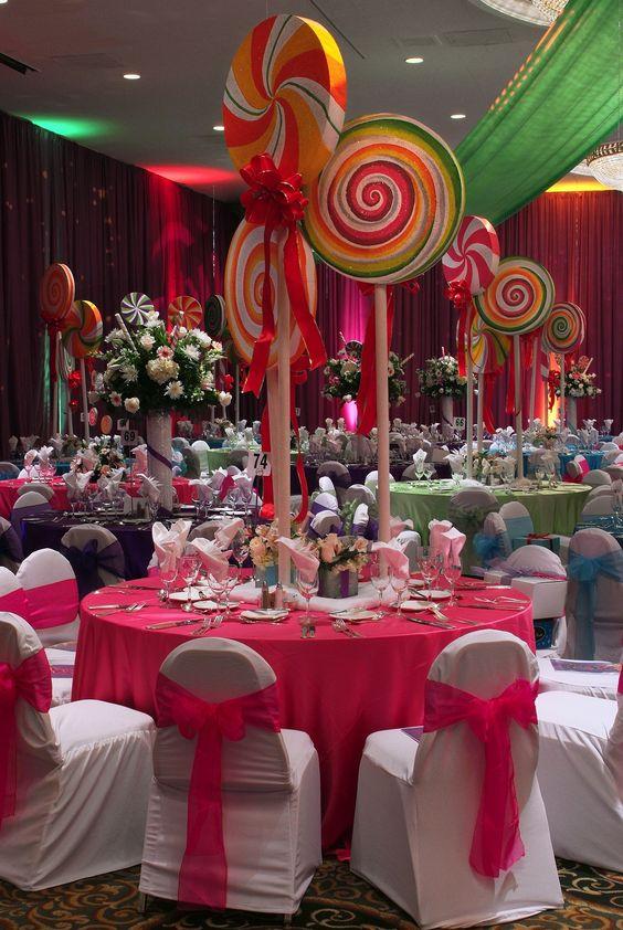 Fiesta de xv años con tema de candyland