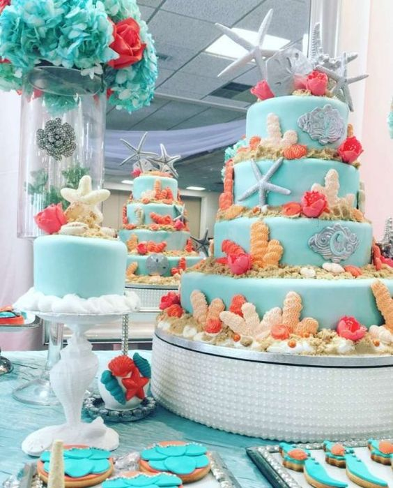 Fiesta de quince años inspirados en el mar