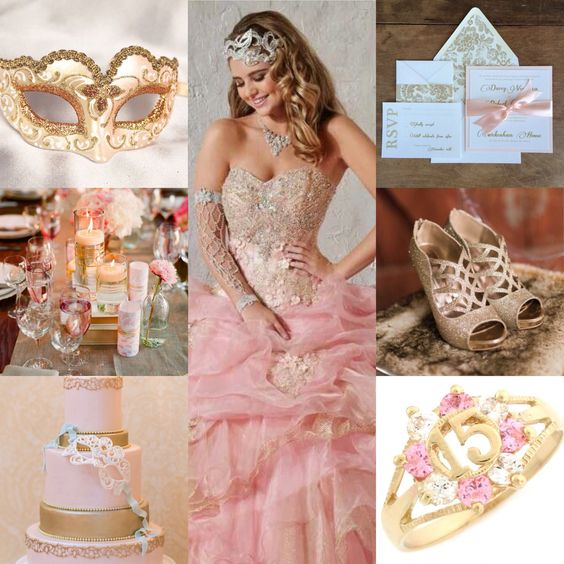 Fiesta de 15 en color Rose gold