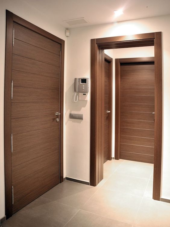 Ideas para pintar tus puertas interiores tendencias 2019 for Modelos de puertas de madera para interiores