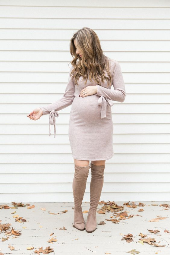 Como vestirme para mi baby shower en invierno