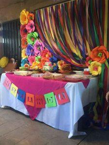 Decoración demesa de postres mexicana