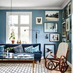 Decoración de salas pequeñas color azul
