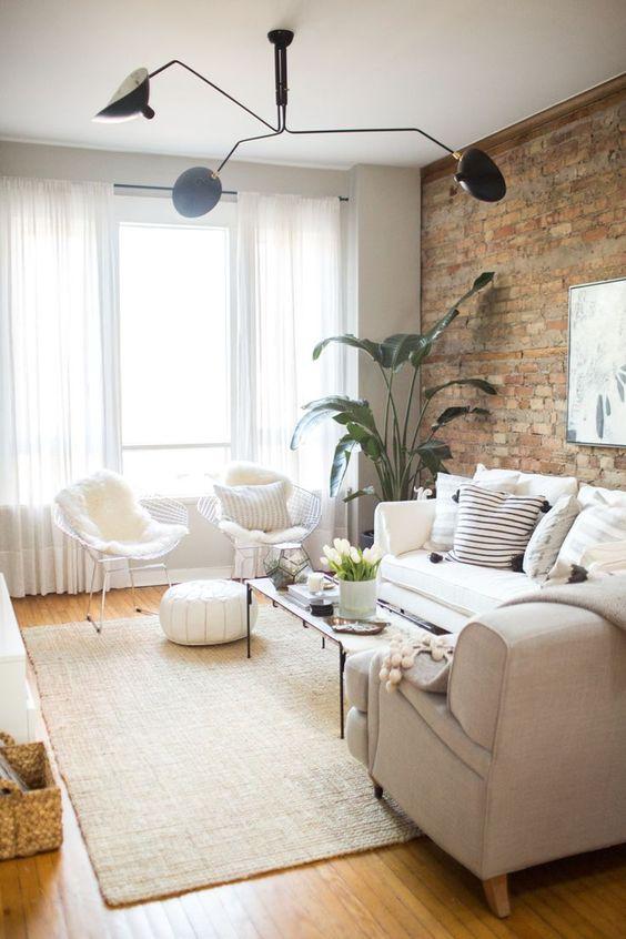 Decoración de salas pequeñas color beige
