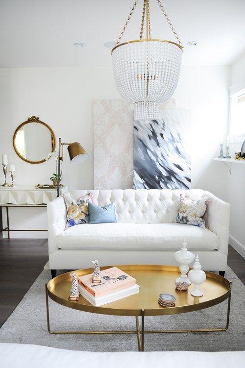 Decoración de salas pequeñas color blanco