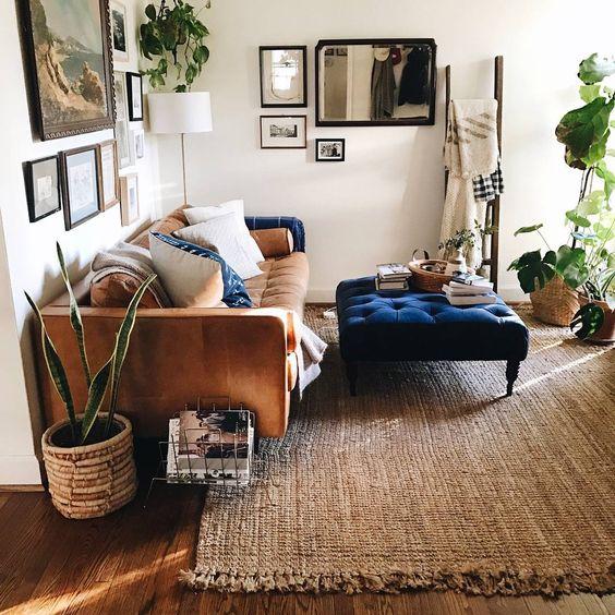 Decoración de salas pequeñas color Cafe