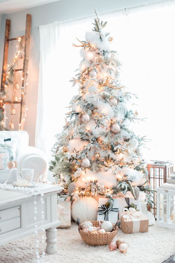 Decoraciones navideñas 2018 color blanco