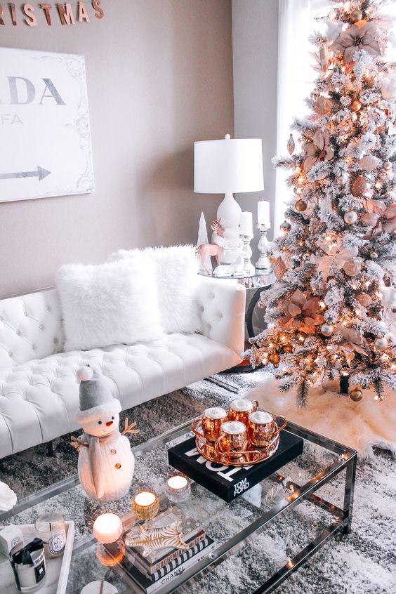 Decoraciones navide as 2018 color cobre decoracion de for Decoraciones navidenas para la casa