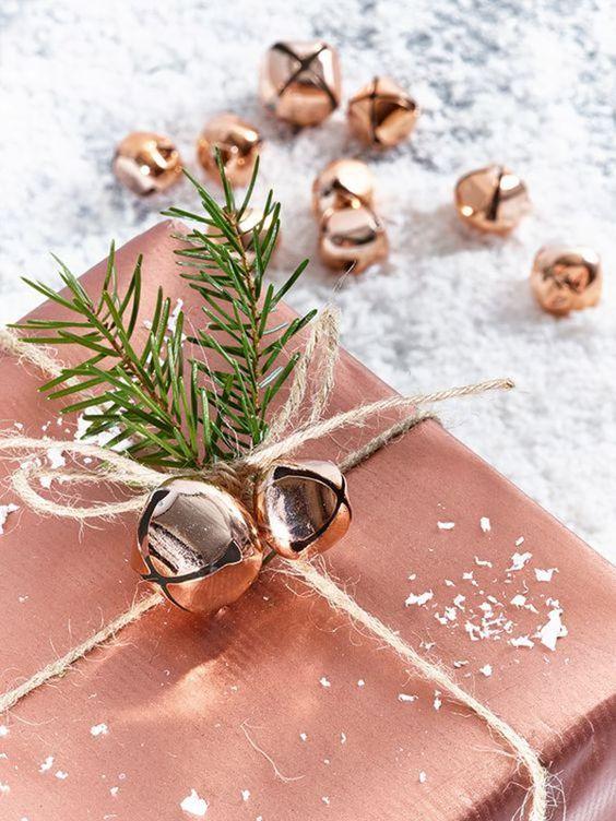 Decoraciones navideñas 2018 color cobre