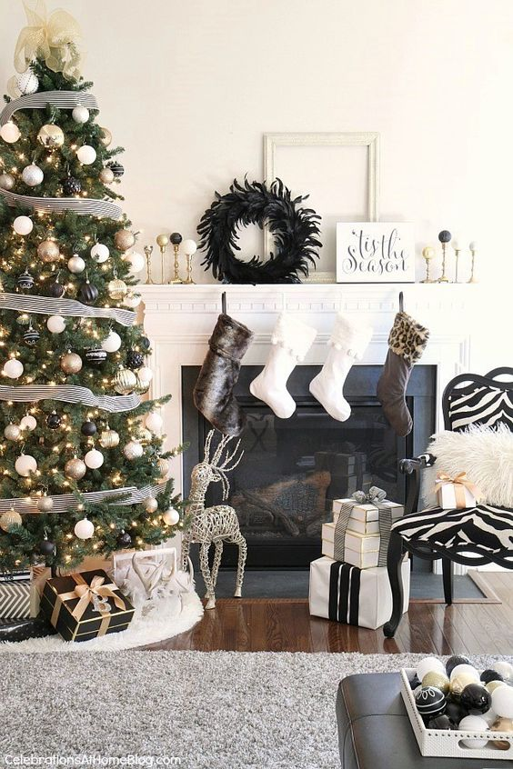 Decoraciones navideñas 2018 color negro
