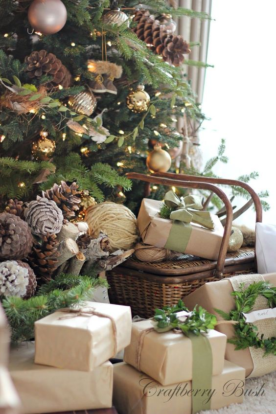 Decoraci n navide a con estilo r stico ideas para for Ideas de decoracion navidena